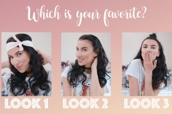 3 WAYS TO STYLE CURLY HAIR